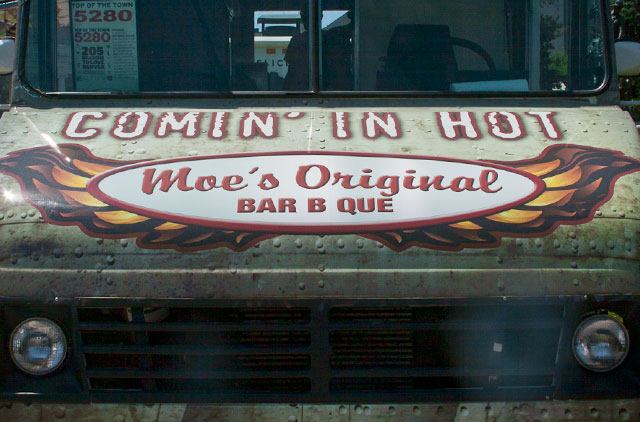 Moe's BBQ food truck wrap
