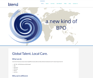 BlendBPO website
