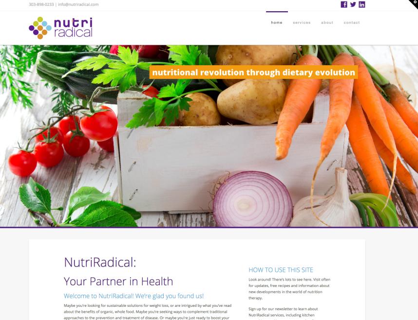 NutriRadical website