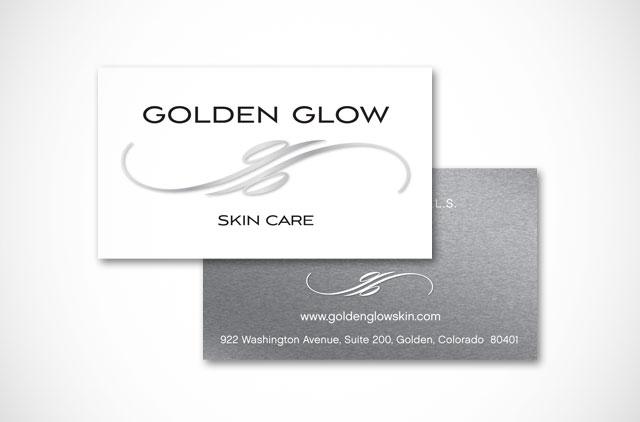 Golden Glow logo and branding