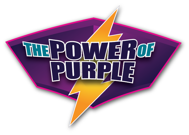 Power of Purple, logo for conference theme