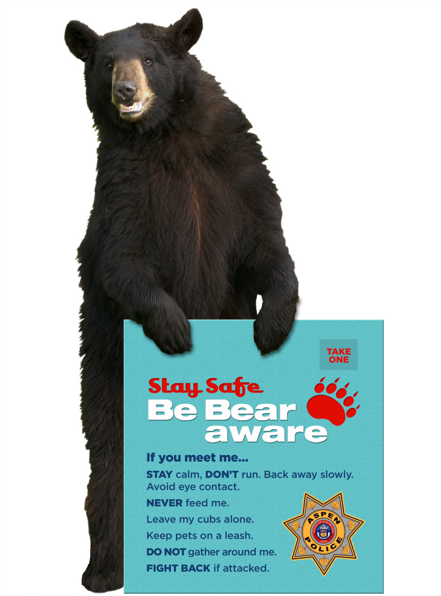 Aspen Police PSA for bear safety.