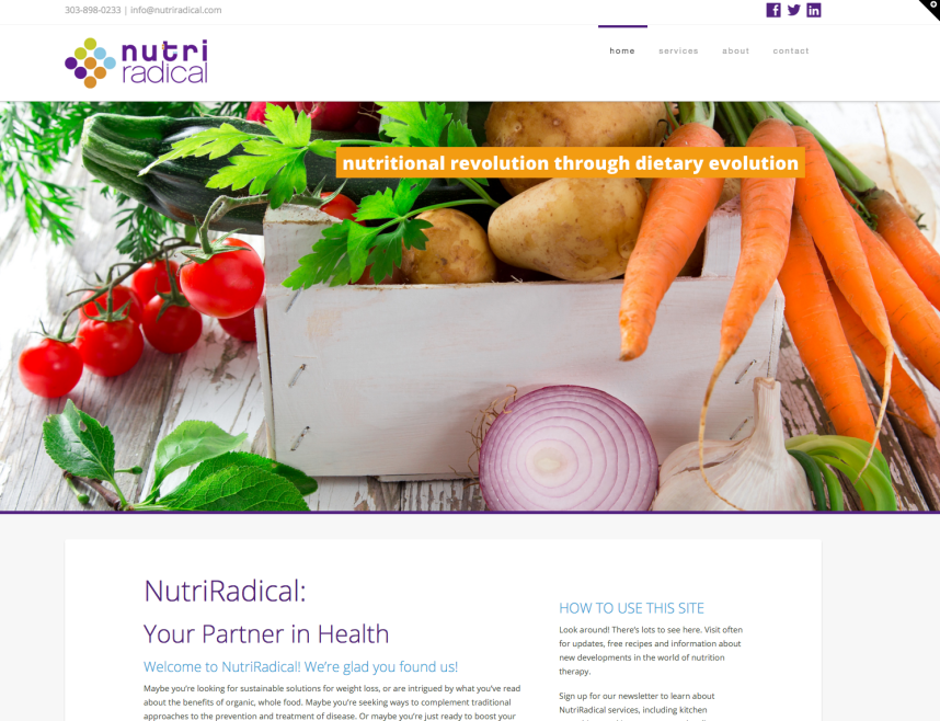 NutriRadical website